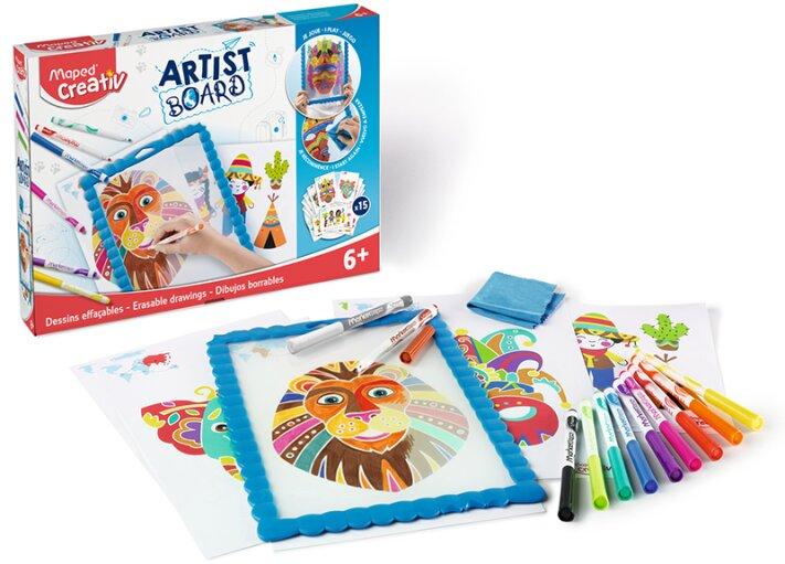 Výtvarná sada pro začínající umělce - Maped Creativ Artist Board transparentní tabule na kreslení