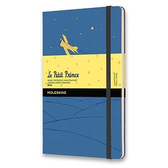 Obrázek produktu Diář Moleskine 2022 Le Petit Prince - tvrdé desky - L, týdenní, modrý