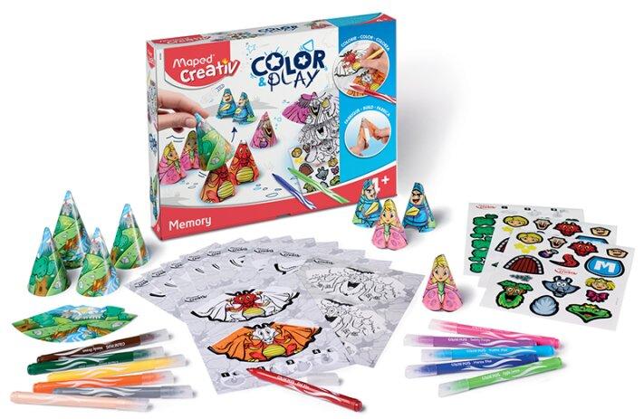 Kreativní sada pro vytvoření hry podobné pexesu - Maped Creativ Color & Play paměťová hra
