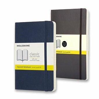 Obrázek produktu Zápisník Moleskine - měkké desky - S, čtverečkovaný, výběr barev