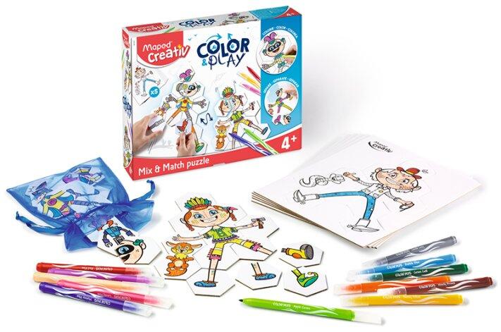 Kreativní sada pro vytvoření vlastního puzzle - Maped Creativ Color & Play skládačka