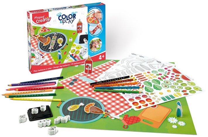 Kreativní sada pro vytvoření vlastní scenérie pikniku - Maped Creativ Color & Play grilování