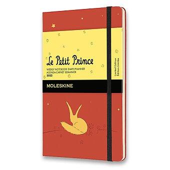 Obrázek produktu Diář Moleskine 2022 Le Petit Prince - tvrdé desky - S, týdenní, oranžový