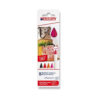 Obrázek produktu Popisovač Edding na textil 4600 - červené odstíny, 5 barev