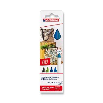 Obrázek produktu Popisovač Edding na textil 4600 - modré odstíny, 5 barev