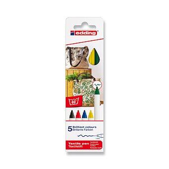 Obrázek produktu Popisovač Edding na textil 4600 - 5 barev
