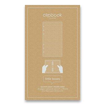 Obrázek produktu Čtverečkovaný papír - náplň osobních bloků Filofax Clipbook