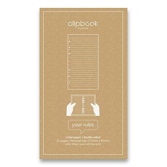 Obrázek produktu Poznámkový papír, linkovaný - náplň osobních bloků Filofax Clipbook