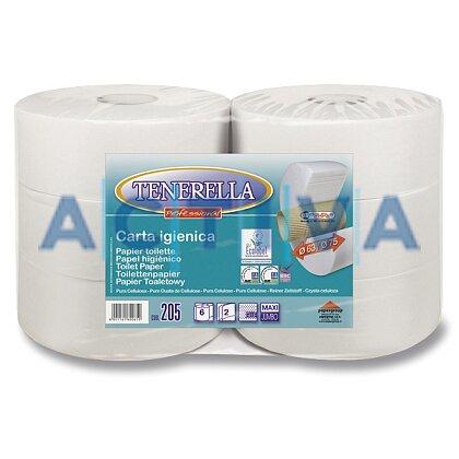 Obrázek produktu Jumbo Tenerella - toaletní papír - 2-vrstvý, průměr 25 cm, návin 260 m, 6 ks