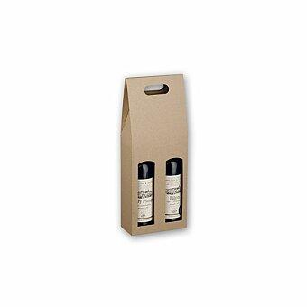 Obrázek produktu DOUBLE BOX - dárková krabice na víno, přírodní