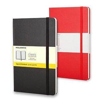 Obrázek produktu Zápisník v tvrdých deskách MOLESKINE - 13 x 21 cm, čtverečkovaný, výběr barev