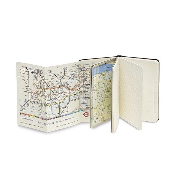 Zápisník Moleskine City, otevřený, mapa