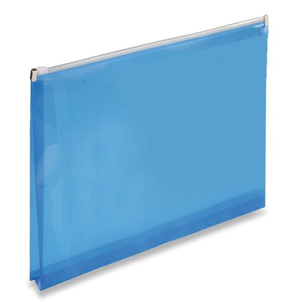 Plastová ZIP obálka modrá, A4