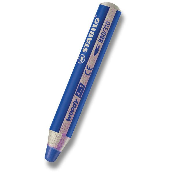 Pastelka Stabilo Woody 3 in 1 modrá