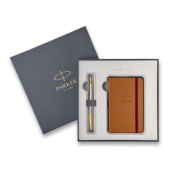 Obrázek produktu Parker Urban Premium Aureate Powder GT - kuličková tužka, dárková sada se zápisníkem