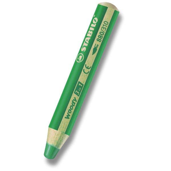 Pastelka Stabilo Woody 3 in 1 tmavě zelená