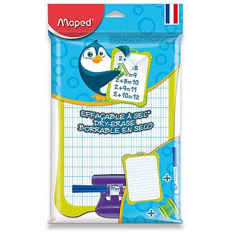 Obrázek produktu Stíratelná tabulka Maped - bílá - s příslušenstvím, mix barev