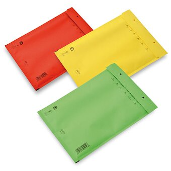 Obrázek produktu Barevná bublinková obálka 17/G - 250 x 350 mm, 10 ks, výběr barev
