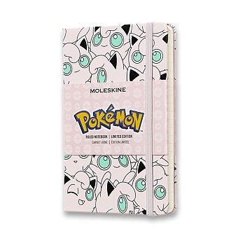 Obrázek produktu Zápisník Moleskine Pokemon Jigglypuff - tvrdé desky - S, linkovaný, Doplňky