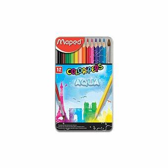 Obrázek produktu Pastelky Maped Color'Peps Metal Box Aqua - 12 barev + štětec