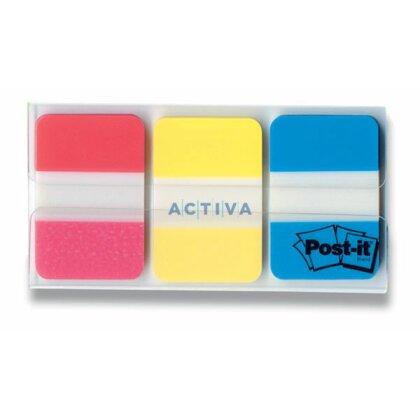 Obrázok produktu 3M Post-it® 686 PGO - samolepiace plastové záložky - 3 x 22 ks, 25 x 38 mm, neon
