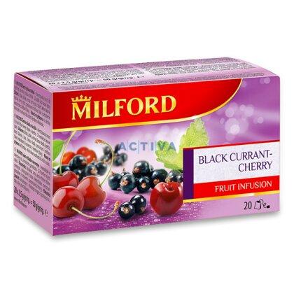Obrázek produktu Milford - ovocný čaj - Černý rybíz, třešeň, 20 ks