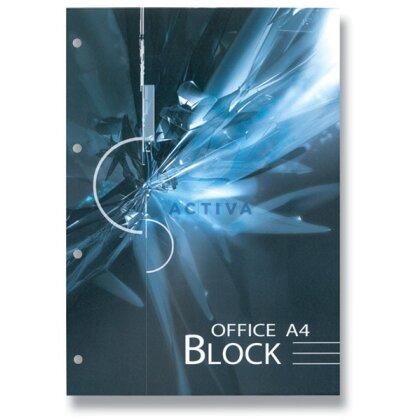 Obrázok produktu Kancelársky blok - lepený, dierovaný - A4, 70 l., linajkový