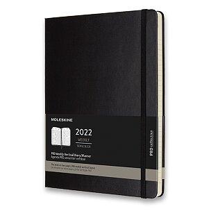 Diář Moleskine 2022 - PRO, tvrdé desky