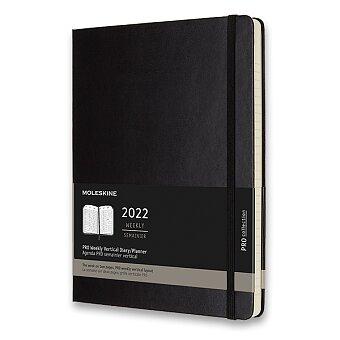 Obrázek produktu Diář Moleskine 2022 - PRO, tvrdé desky - XL, týdenní, vertikální, černý