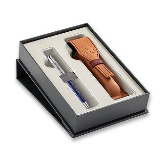 Obrázek produktu Parker Sonnet Atlas Blue Silver CT - kuličková tužka, dárková sada s pouzdrem