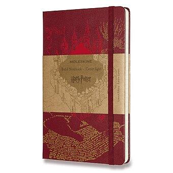 Obrázek produktu Zápisník Moleskine Harry Potter - L, linkovaný, vínový