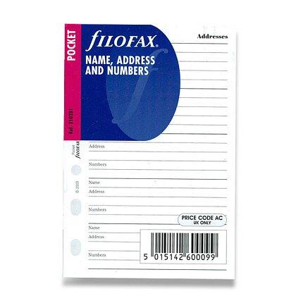 Obrázek produktu Filofax - náplň kapesní - adresář