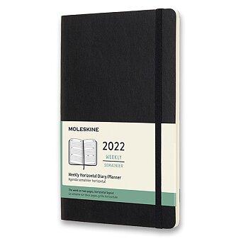 Obrázek produktu Diář Moleskine 2022 - měkké desky - L, týdenní, horizontální, černý