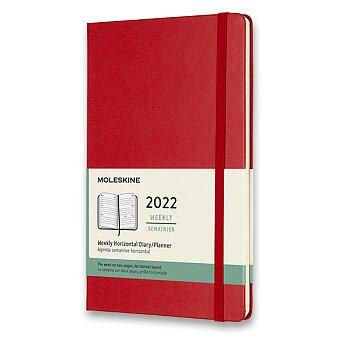 Obrázek produktu Diář Moleskine 2022 - tvrdé desky - L, týdenní, horizontální, červený