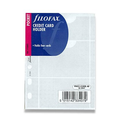 Obrázek produktu Filofax - náplň kapesní - pouzdro na 4 vizitky