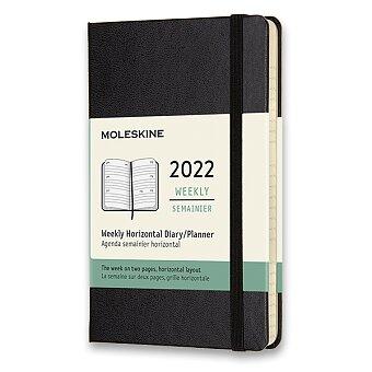 Obrázek produktu Diář Moleskine 2022 - tvrdé desky - S, týdenní, horizontální, černý