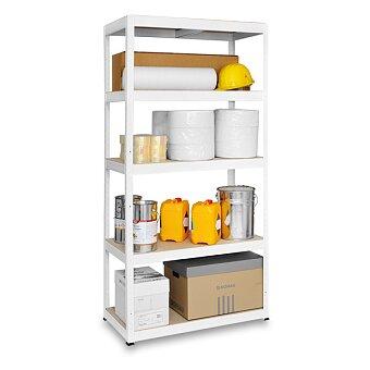 Obrázek produktu Bílý vysokozátěžový kovový regál Kovona Futur - 180 × 120 × 60 cm, 250 kg, 5 polic
