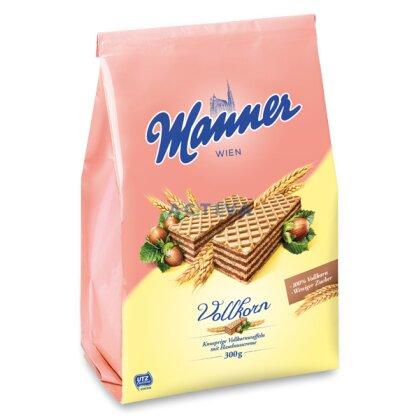 Obrázek produktu Manner Vollkorn - celozrnné oplatky - lískooříškové, 300 g