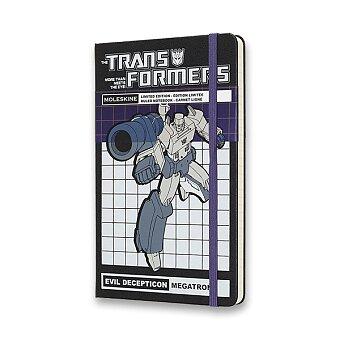 Obrázek produktu Zápisník Moleskine Transformers  - tvrdé desky - L, linkovaný, Megatron