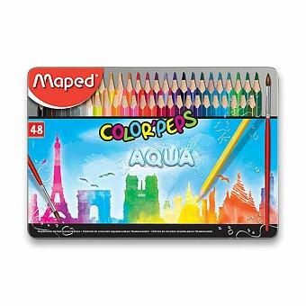 Obrázek produktu Pastelky Maped Color'Peps Metal Box Aqua - 48 barev + štětec