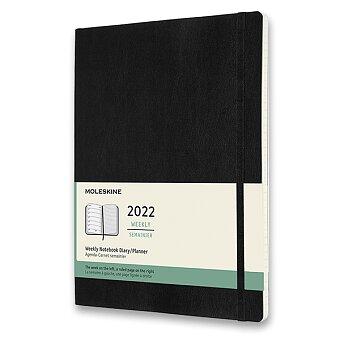 Obrázek produktu Diář Moleskine 2022 - měkké desky - XL, týdenní, černý