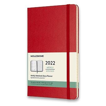 Obrázek produktu Diář Moleskine 2022 - tvrdé desky - L, týdenní, červený
