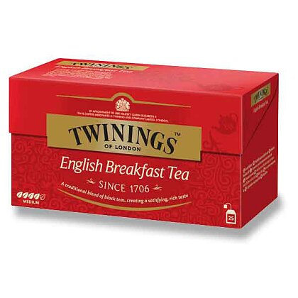 Obrázek produktu Twinings - černý čaj - English Breakfast, 25 x 2 g