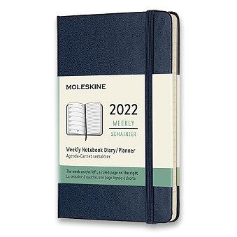 Obrázek produktu Diář Moleskine 2022 - tvrdé desky - S, týdenní, modrý