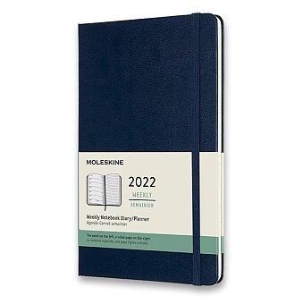 Obrázek produktu Diář Moleskine 2022 - tvrdé desky - L, týdenní, modrý