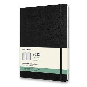 Obrázek produktu Diář Moleskine 2022 - tvrdé desky - XL, týdenní, výběr barev