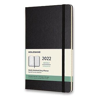 Obrázek produktu Diář Moleskine 2022 - tvrdé desky - L, týdenní, černý