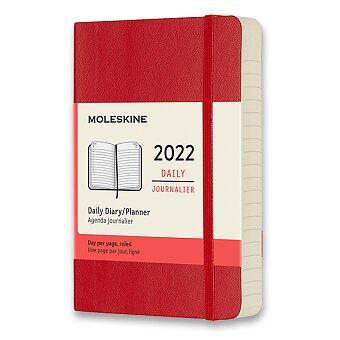 Obrázek produktu Diář Moleskine 2022 - měkké desky - S, denní, výběr barev