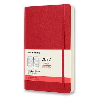 Obrázek produktu Diář Moleskine 2022 - měkké desky - L, denní, červený