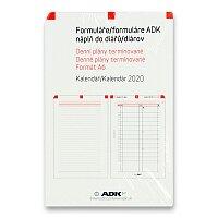 Denní plány termínované ADK 2020